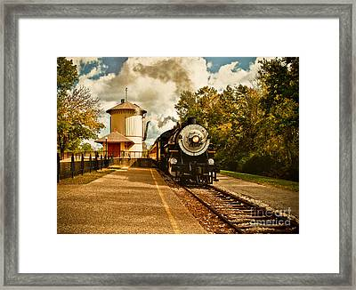 The Noon Train Framed Print by Robert Frederick
