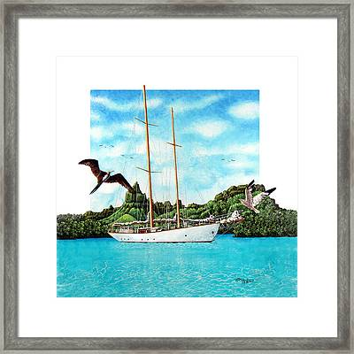 The Nordlys Framed Print
