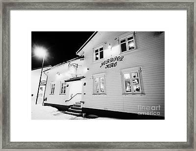 The Nordpol Kro Pub In Vardo Finnmark Norway Europe Framed Print