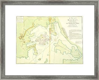 The North American Atlas Framed Print by British Library