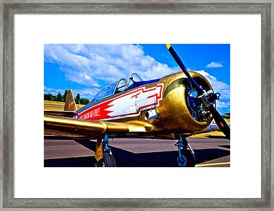 The North American T-6 Texan Airplane Framed Print by David Patterson