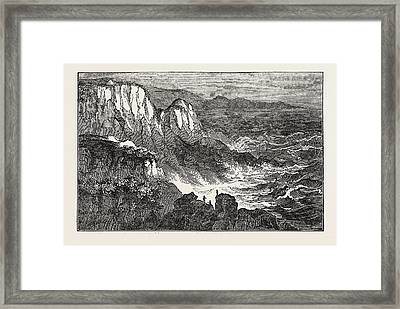 The North Cape. The Most Northern Extremity Of Europe Framed Print by English School