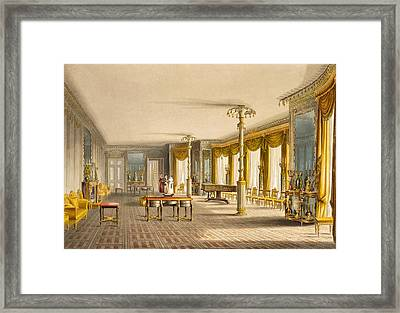 The North Drawing Room, Or Music Room Framed Print by English School