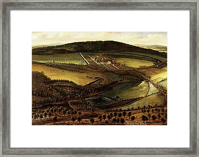 The North Prospect Of Hampton Court, Herefordshire Framed Print by Litz Collection
