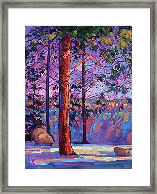 The North Rim Hexaptych - Panel 1 Framed Print by Erin Hanson