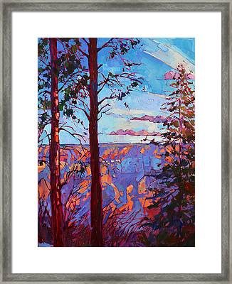 The North Rim Hexaptych - Panel 3 Framed Print by Erin Hanson