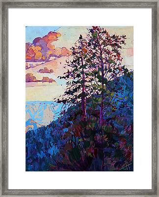 The North Rim Hexaptych - Panel 6 Framed Print by Erin Hanson