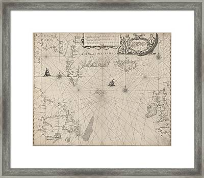The North Seaa Chart Framed Print by British Library