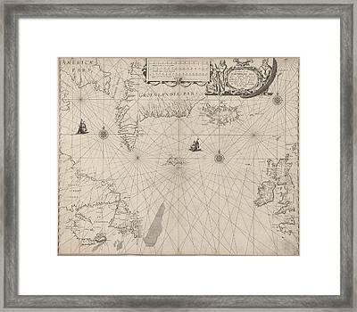 The North Seaa Chart Framed Print