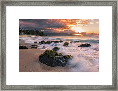 The North Shore Of Maui Framed Print by Hawaii  Fine Art Photography