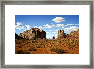 The North Window - Monument Valley  Framed Print