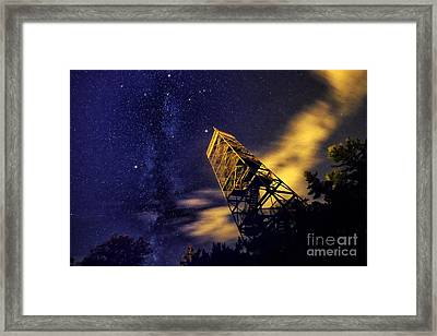 The Northern Cross And Summer Triangle Framed Print by Charline Xia