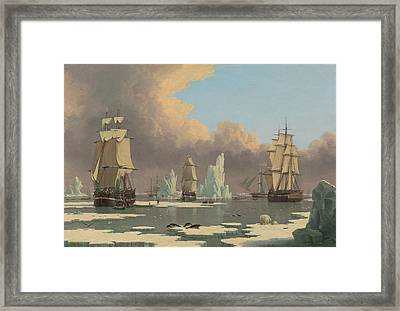 The Northern Whale Fishery Framed Print by John of Hull Ward