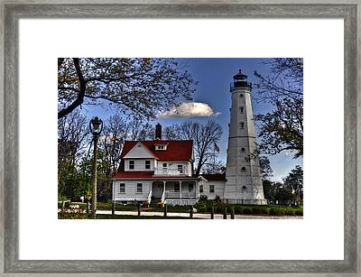 Framed Print featuring the photograph The Northpoint Lighthouse by Deborah Klubertanz