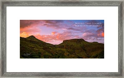 The Notch At Sunset - Pano Framed Print