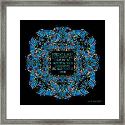 The Notorious Celtic Peacocks Framed Print