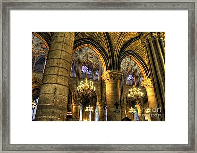 The Notre Dame Archs Framed Print by Ines Bolasini