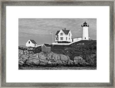 The Nubble - Bw Framed Print by Nikolyn McDonald