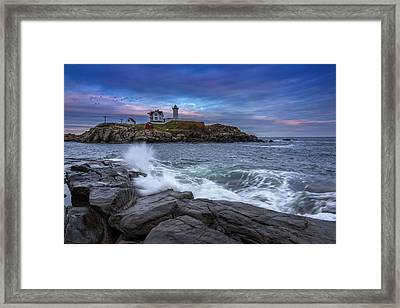 The Nubble In Color Framed Print by Rick Berk