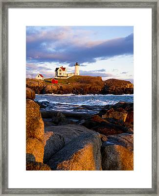 The Nubble Lighthouse Framed Print