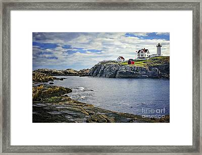 The Nubble Framed Print by Priscilla Burgers
