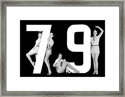 The Number 79 And Four Women Framed Print