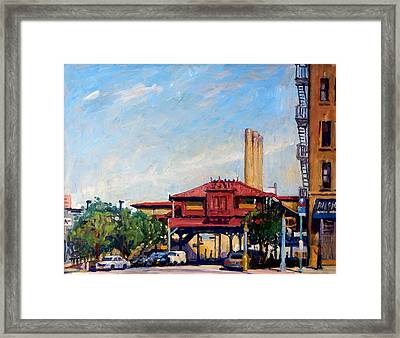 The Number One Train 215th Street Station Nyc Framed Print by Thor Wickstrom