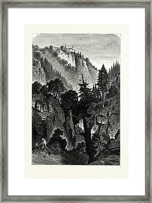 The Nunnery Of Ottilienberg, Alsace. Mont Sainte-odil Framed Print by French School