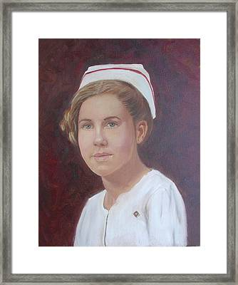 Framed Print featuring the painting The Nurse by Sharon Schultz