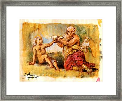 The Nurture Of Zeus Framed Print by Dan Hammer