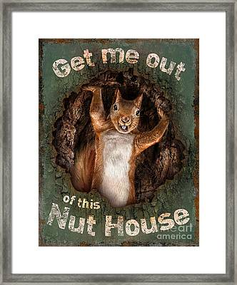 The Nut House Framed Print by JQ Licensing Jeff wack