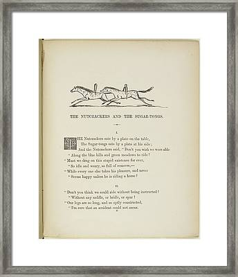 The Nutcrackers And The Sugartongues Framed Print by British Library