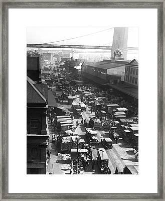 The Ny Fulton Street Market Framed Print