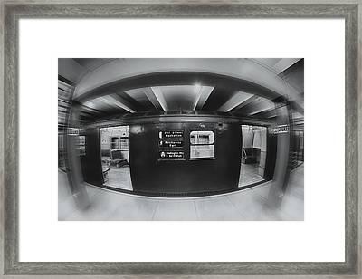 The Nyc Subway A Train Bw Framed Print