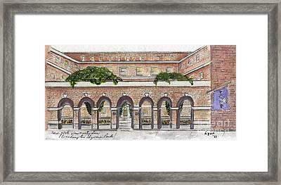 The Nyu Law School Framed Print