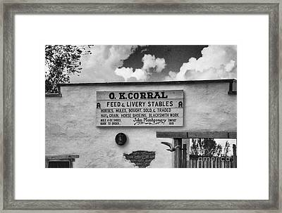 The O. K. Corral Framed Print by Anne Rodkin