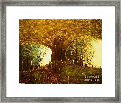 The Oak Tree-original Sold-buy Giclee Print Nr 31 Of Limited Edition Of 40 Prints  Framed Print