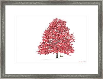 The Oak Tree Framed Print by David Simons