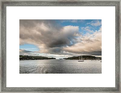 Framed Print featuring the photograph The Oban's Marina by Sergey Simanovsky