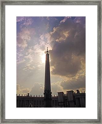 Framed Print featuring the photograph The Obelisk by Joe Winkler