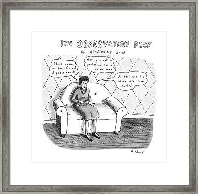 The Observation Deck Of Apartment 2-n Framed Print