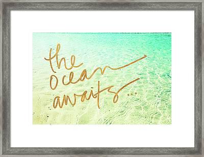 The Ocean Awaits Framed Print by Susan Bryant