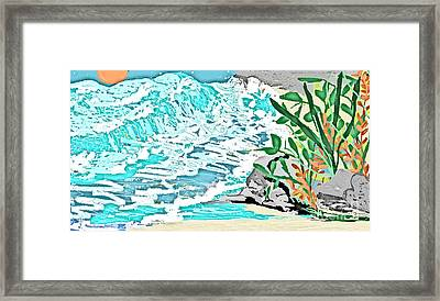 The Ocean Blues Framed Print by Sherry  Hatcher