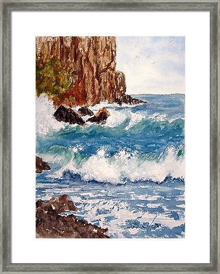 The Ocean Cliffs Framed Print by Sandra Stone