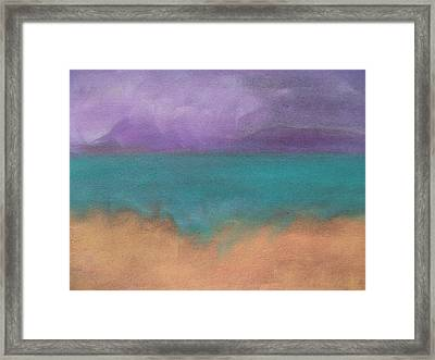 The Ocean Framed Print by Cynthea Greb