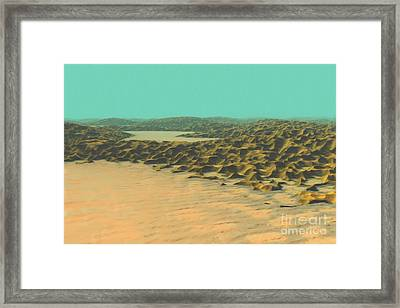 Framed Print featuring the painting The Ocean Is A Desert by Pet Serrano