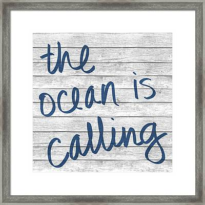 The Ocean Is Calling I Framed Print by South Social Studio
