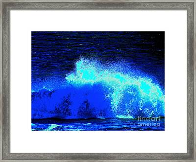 The Ocean Knows Framed Print by Q's House of Art ArtandFinePhotography
