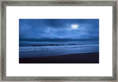 The Ocean Moon Framed Print by Bill Wakeley
