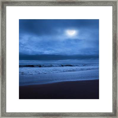 The Ocean Moon Square Framed Print by Bill Wakeley